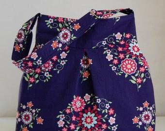 Momento Midnight Fabric Pleated Hobo Handbag / Purse - READY TO SHIP