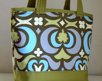 Water Lotus Fabric Tote Bag - READY TO SHIP
