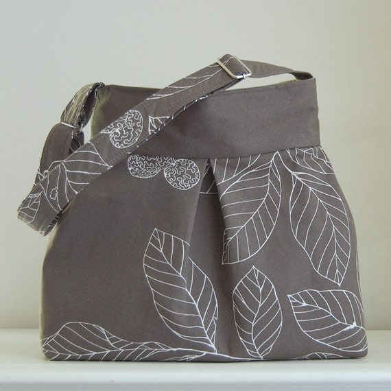 Taupe Stockholm Pleated Hobo 42  - READY TO SHIP