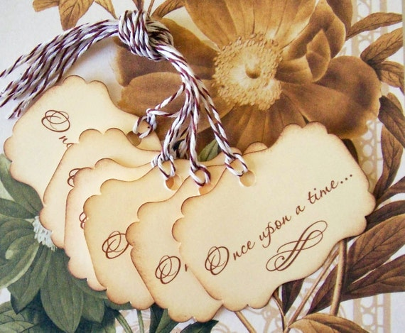 Tags Wedding Wish Tree Princess Party Vintage Style Once Upon A Time Gift Tags Party Favor Treat Bag Tags TL003