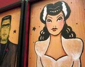 Frankenstein and The Bride Wall Art Wedding Tattoo