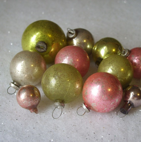 Vintage glass mini ornaments