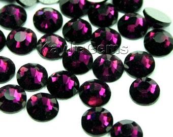 Flat Back Rhinestone Crystal Non-Hotfix Glue On SS6/2mm, SS8/2.4mm, SS10/2.8mm, SS12/3mm, SS16/4mm - 72 pcs - Amethyst - Pick your size