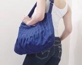 Canvas Crossbody Bag in Royal Blue, Sling bag, Market Bag, Hobo Bag, Everyday Purse, Handbags, Gift Ideas for Women - KANGAROO - 40% OFF