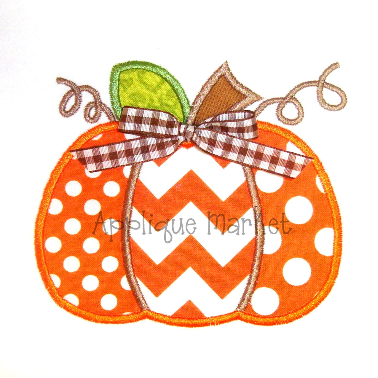 Machine embroidery design applique pumpkin three by tmmdesigns