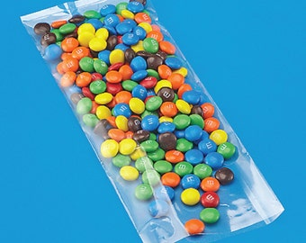100 Clear Cello Treat Bags . High Clarity Flat Clear Polypropylene . 4 x 10 inches