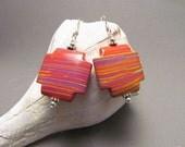RESERVED for Rainbowtopaz Beaded Cross Earrings, Multi Color, Southwest Design, Harleypaws, SRAJD