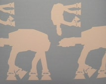 At At Star Wars family car window decal sticker