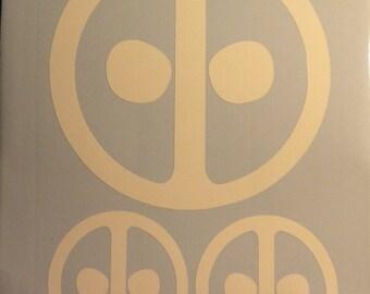 Deadpool mask comic vinyl decal sticker X Men window laptop