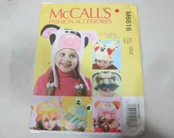 New McCall's Childs' Hat Pattern M6616  (Free US Shipping)