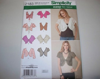 New Simplicity  Vest and Jacket Pattern, 2183 (U5) (Free US Shipping)