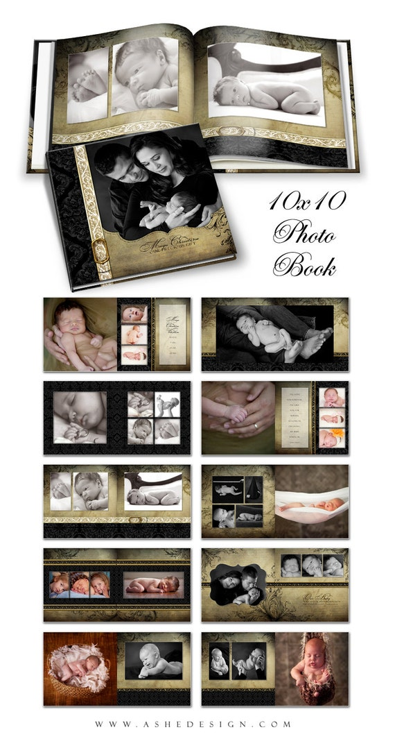 Photo Book - REJOICE - Photoshop Templates for Photographers. 10x10 ...: www.etsy.com/listing/112577885/photo-book-rejoice-photoshop-templates