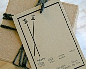 Hand Made for youSet of 6 Gift Tags - your choice of colors