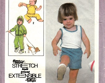 Simplicity 8949 Pattern for toddler - Children tank top, pant, short, jacket sz 1/2 - Vintage sewing pattern