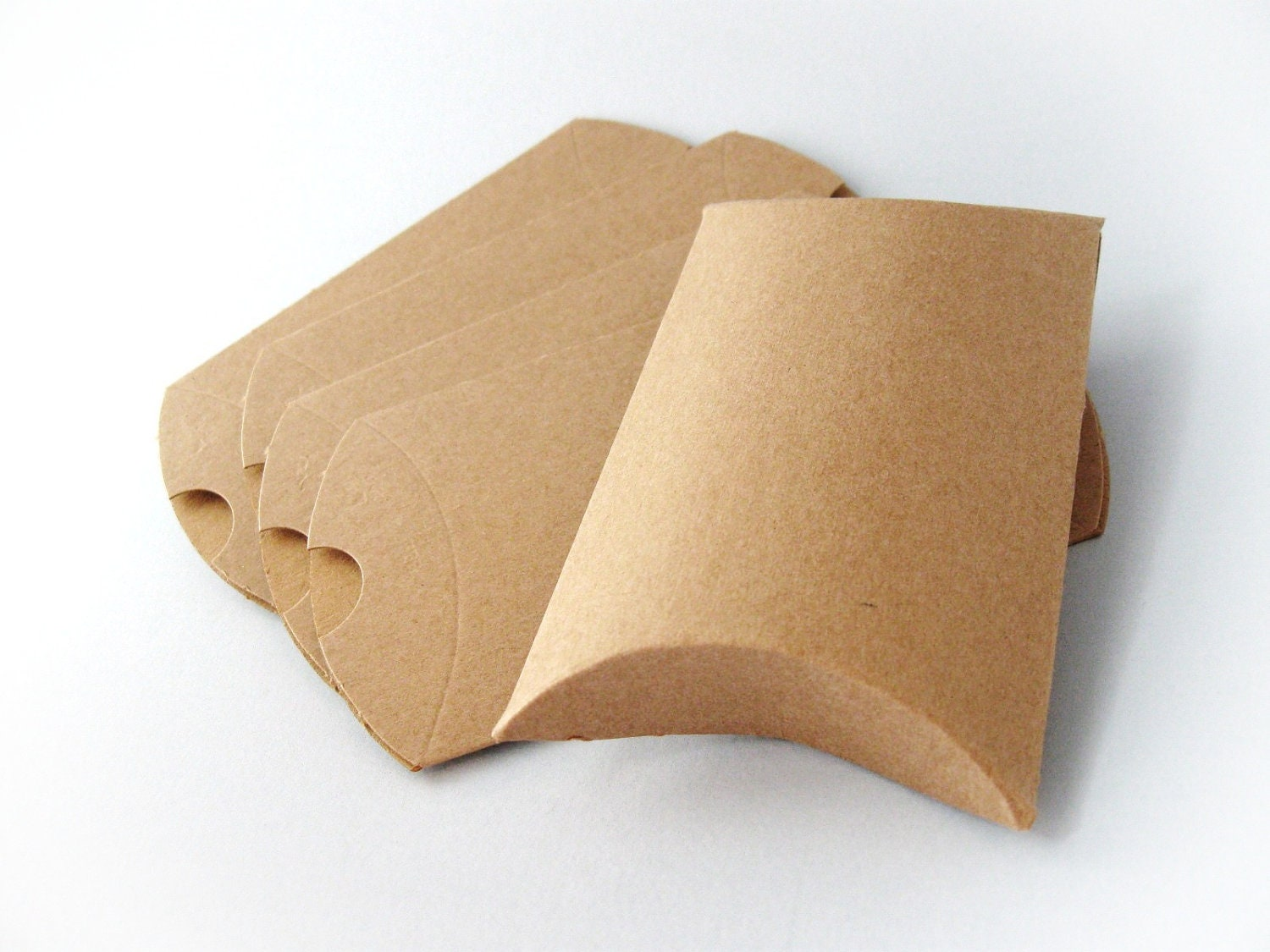 12 kraft pillow boxes eco friendly gift by for Eco boxes