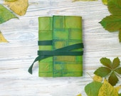 Woodland Journal - Leather Journal Green Leather Notebook - Forest Ranger