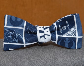Star Wars on Blue  Bow tie