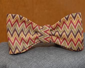 Autumn Chevron  Bow Tie