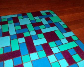Floorcloth, floorcloths, floor cloths, floor cloth, painted rug, painted floorcloth