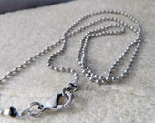 20 inch Stainless Steel Ball Chain with Lobster Clasp