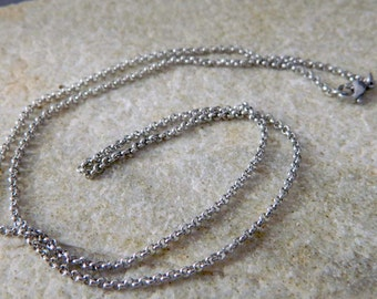 19.5 inch Stainless Steel Small Rolo Chain