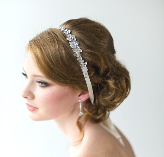 bridal ribbon headband luxe satin ribbon headband wedding head piece