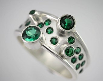Galaxy Ring (Emerald) Made to Order