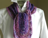 Lace Scarf Shawl Knitting Pattern PDF - Crape Myrtle Shawl - spring scarf cowl wrap -  pattern using sock fingering lace yarn