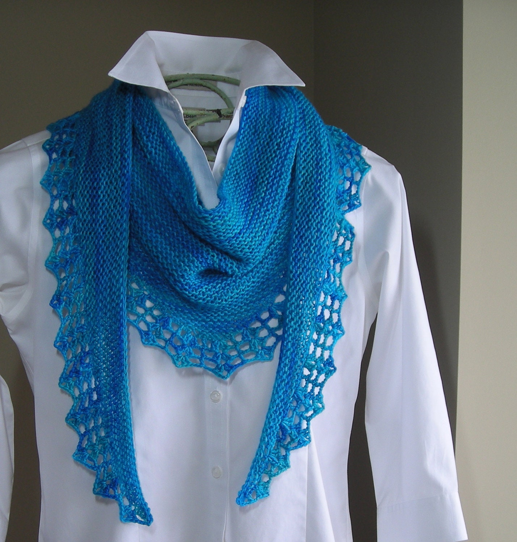Pashmina Cowl Knitting Pattern : Knitting Pattern scarf shawl cowl wrap Handpaint Scarf