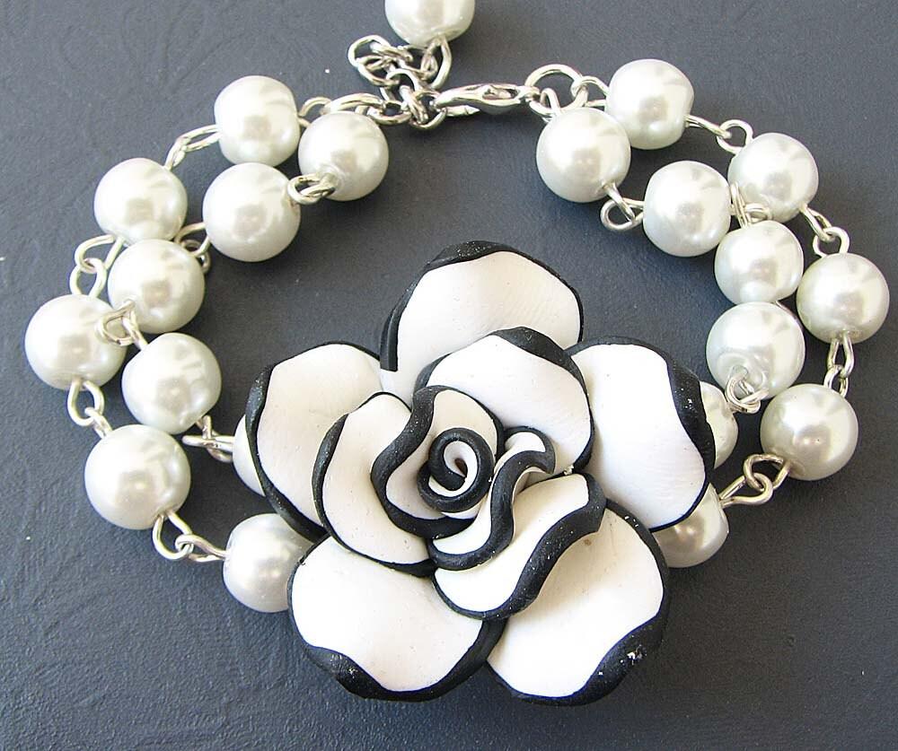 Bridal Flower Bracelet : Bridesmaid jewelry flower bracelet wedding by