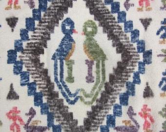 Antique Guatamalen Quetzales Wool Blanket or Wall Hanging
