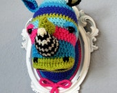 Crochet colorful rhino head