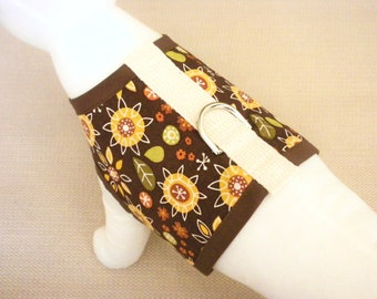 Sunflower Dog Harness Vest