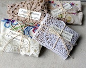 RESERVED just for NATALEIGH.  Wedding or Party Favors - Vintage Doiley and Teabags