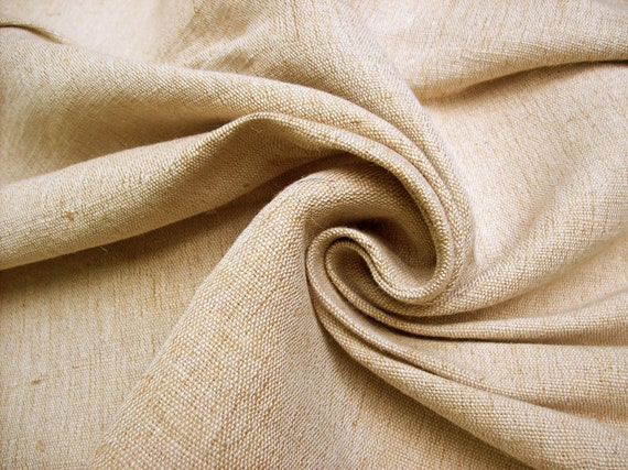 """EXTRA HEAVY natural undyed jute/cotton canvas fabric remnant, 48""""W, 2 yd"""