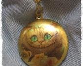 Alice in the Wonderland Cheshire Cat Locket Necklace