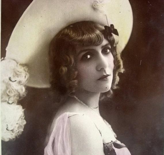 Antique theatre photo postcard, 1900's
