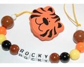 Personalized handmade custom pacifier holder for baby toddler infant child children boy gift plastic beads --------------21