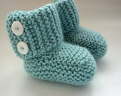 Baby Booties PDF Knitting Pattern, Knit Baby Boots Download, Baby Boots Knit Pattern, Easy Booties Pattern, Baby Uggs Pattern - MARLOW