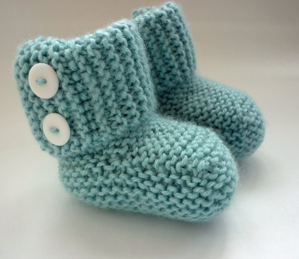 Knitting Patterns Uk : Baby Boots Knitting Pattern pdf MARLOW Instant by LoveFibres