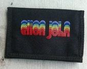 SALE 1980s Concert ELTON JOHN Velcro Vinyl Wallet in Unused Condition