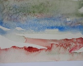 Abstract Jewel Tone Landscape Card