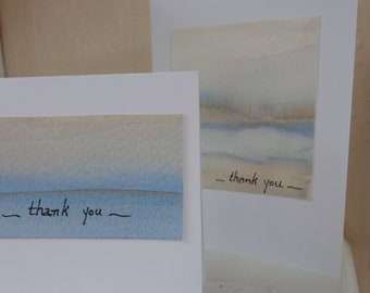 Beach tones 5 thank you notes