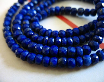 Shop Sale.. LAPIS Rondelles Beads, Luxe AAA, 3-3.5+ mm, 1/2 Strand, September birthstone, pyrite inclusions, brides bridal jj