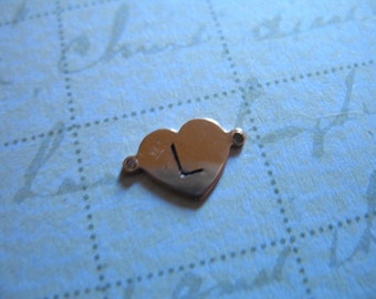Shop Sale.. ROSE GOLD Blanks Discs Sequins, HEART Blank, 14k Gold Fill, pick yellow or rose, 5 pcs Bulk Price, 10.5x7 mm, custom stamping rg