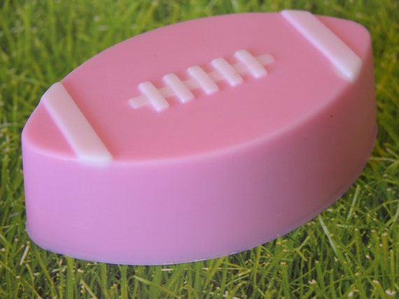 PiNK  FOOTBALL SOAP - VS Pure Seduction Type* Scented - Ladies Super Bowl Party - Football Gift Soap - Decoration - Hand Made Soap