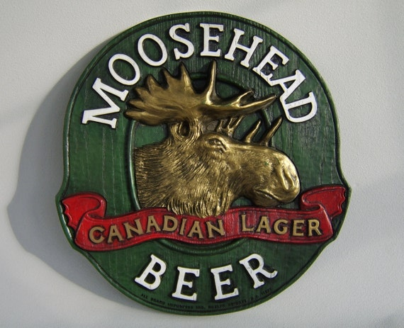 Man Cave Signs Canada : Vintage moosehead beer canadian lager sign man cave