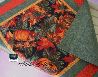 Fall Festive Cozy Quilt for Table Top Table Scarf Runner