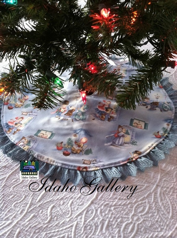 Christmas Tree Skirt Small 20 And A Half Inch With By