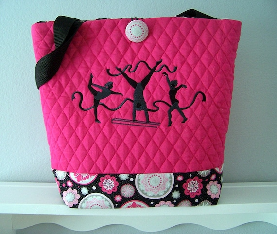 Girls Gymnastic Reversible Tote Bag